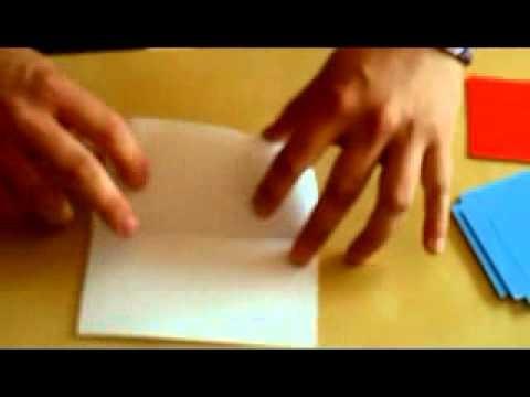 Origami hvězda. Postup, 2. část.