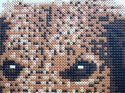 Pes jezevčík (zažehlovací korálky - Hama Beads)