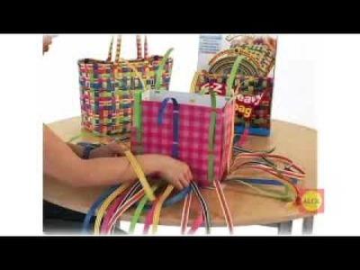 Pletená plážová taška