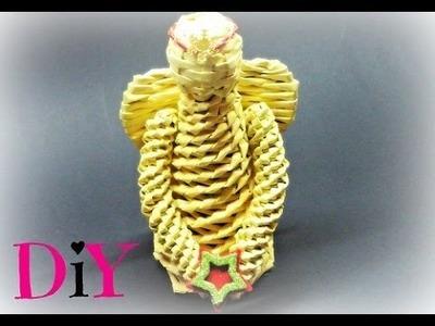 Pletení z papíru - anděl z papírových ruliček (Angel of paper rolls) DIY