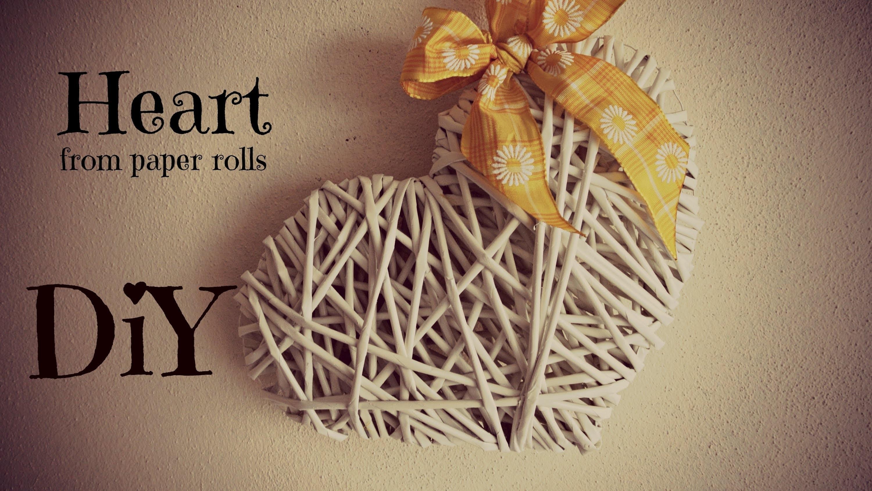Pletení z papíru - srdíčko z papírových ruliček (Heart of paper rolls)