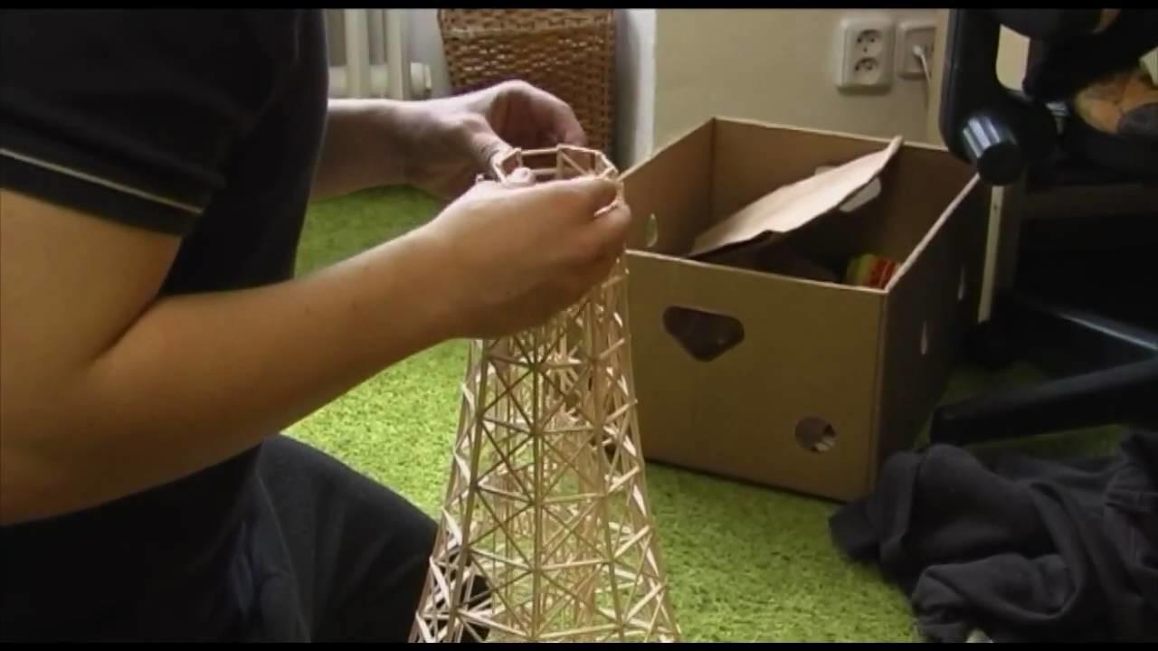 """Prague """"Eiffel"""" tower (Petrin) made of matches"""