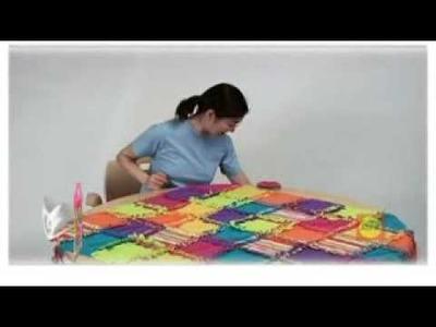 Super fleecová uzlíková deka