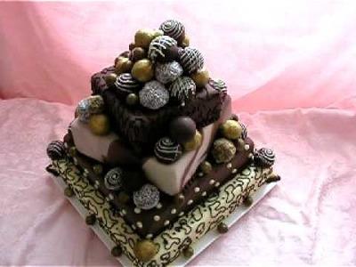 Wedding cake with praline-pralinkový svatební dort 2.