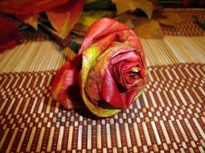 DIY autumn rose