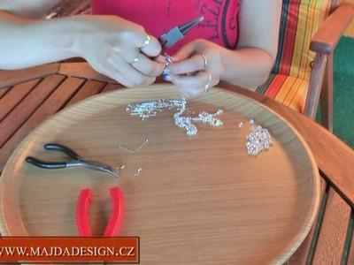 Koralky - ketlovaný náhrdelník a náušnice