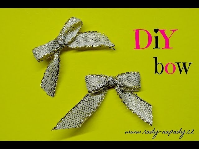 Mašlička z vidličky (decorating bow) DIY