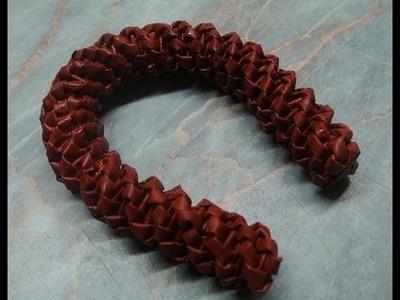 Pletení z papíru - podkova - diy