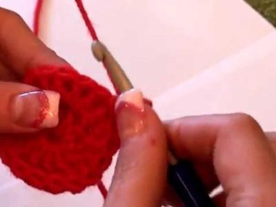 Háčkování - dvakrát nahozený dlouhý sloupek 2DS; Crochet - Treble crochet