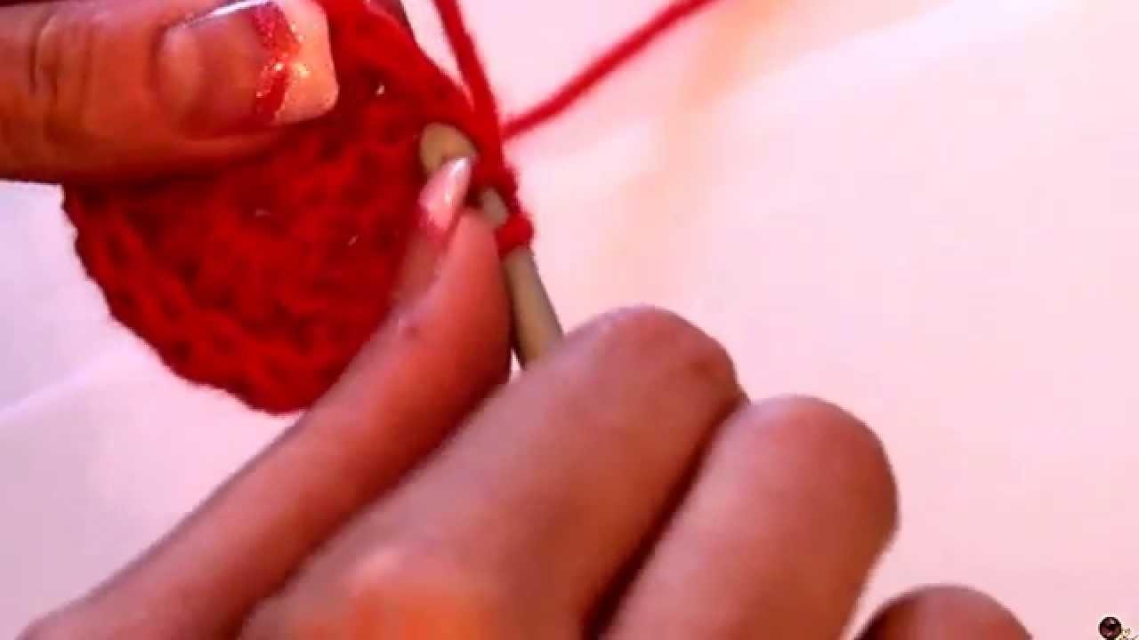 Háčkování - sháčkování 2 polodlouhých sloupků; Crochet decrease