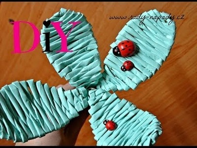 Pletení z papíru - čtyřlístek z papírových ruliček ( four-leaf clover of paper rolls)