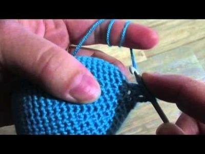 Sháčkování 3ks dvakrát nahozených dlouhých sloupků