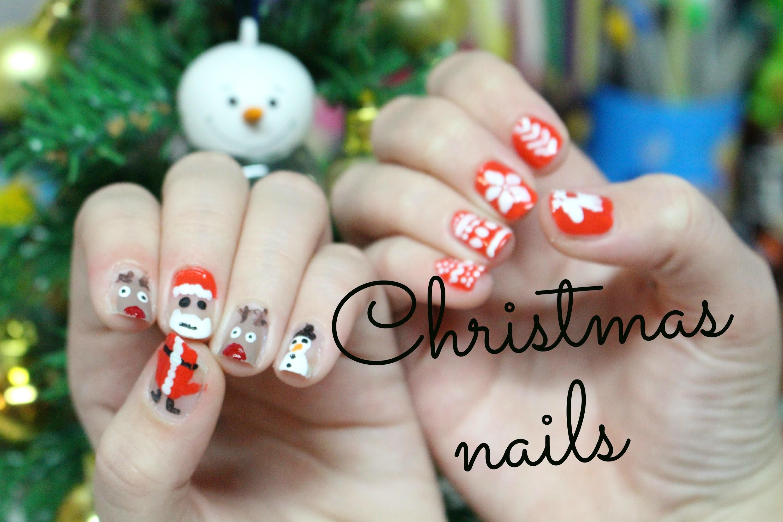 Tutorial: vánoční nehty. Christmas nails