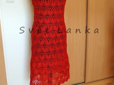 Červené háčkované šaty - díl 1.