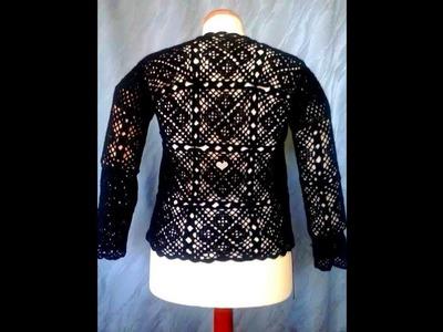 Háčkovaný svetr ze Scarlet