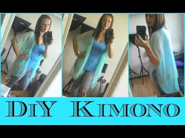 DiY kimono ze šátku. DiY Clothes - Kimono