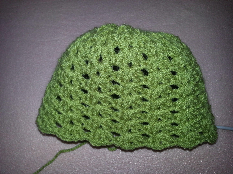 Háčkovaná čepička - crochet cap