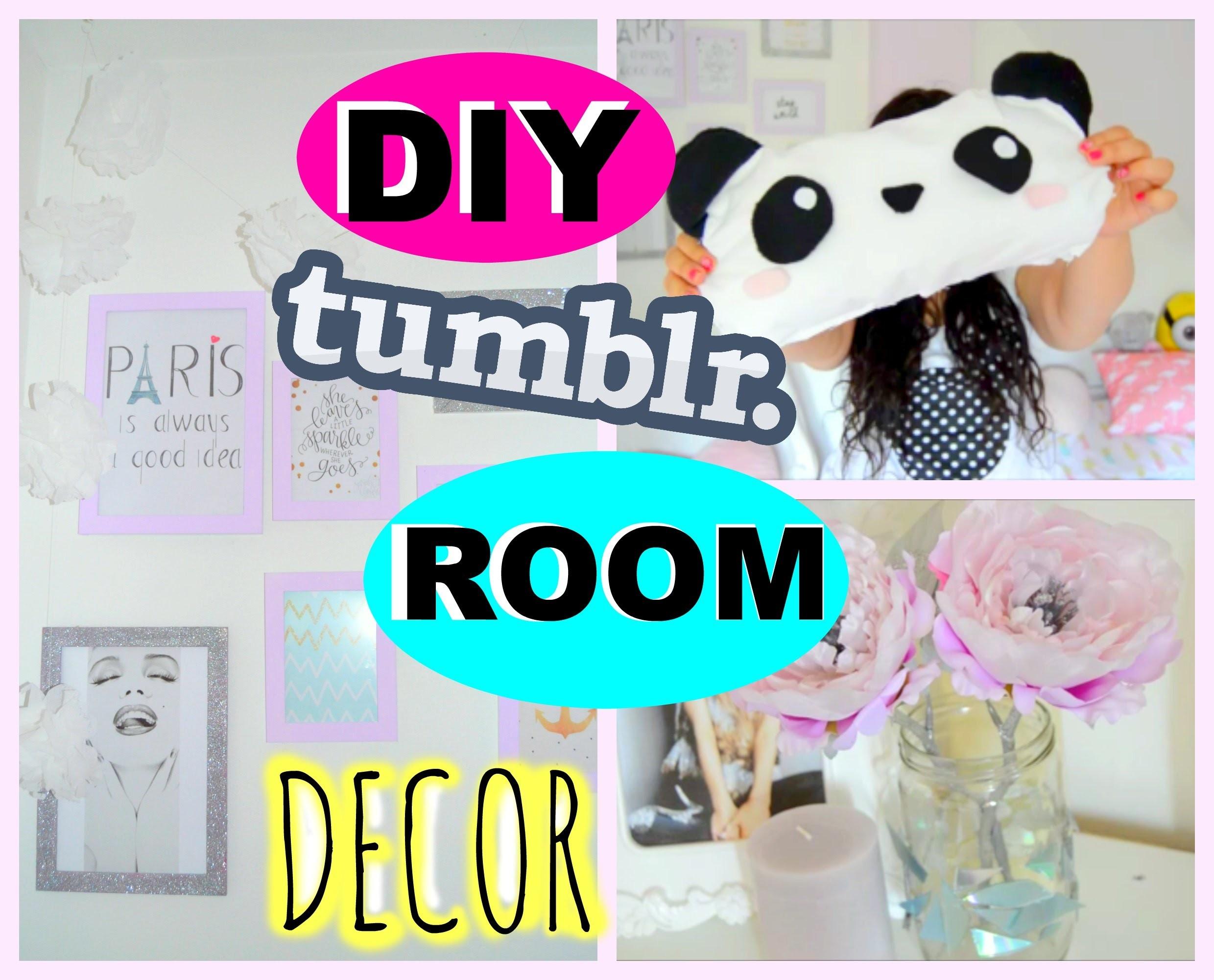 ♡ DIY Room Decor! Tumblr Inspired Room Decorations! ♡ (dekorace do pokoje)