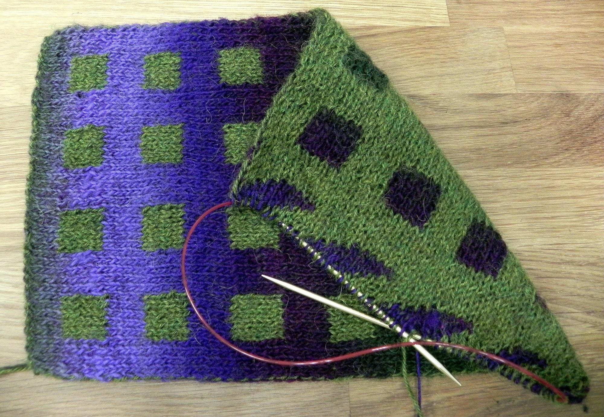 Dvojité reverzní pletení, 1. díl - Double Knitting reversible