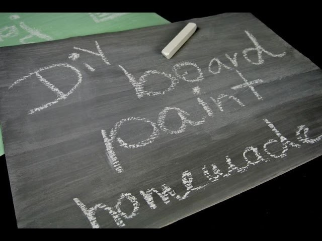 Back to school #2. DiY tabulová barva. Chalk paint. Recipe board paint