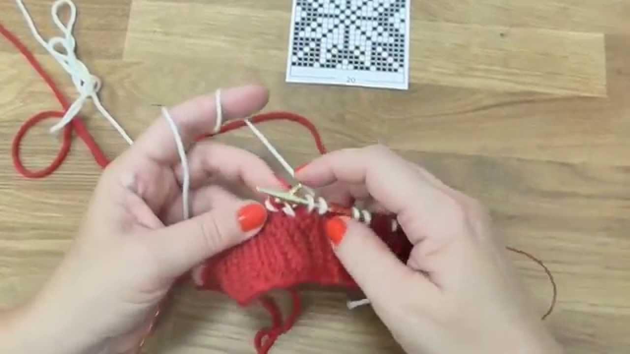 Pletení čepice s norským vzorem 2. díl, Norwegian knitting hat