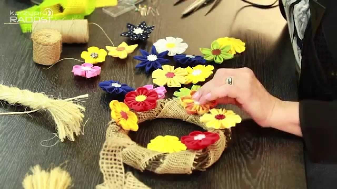 Kanzashi - textilní kytičky - díl 3.