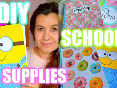 ♡ DIY SCHOOL SUPPLIES - NOTEBOOKS. DIY Školní sešity ♡