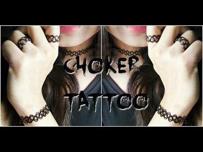 DiY choker náhrdelník. choker tattoo. choker bracelet