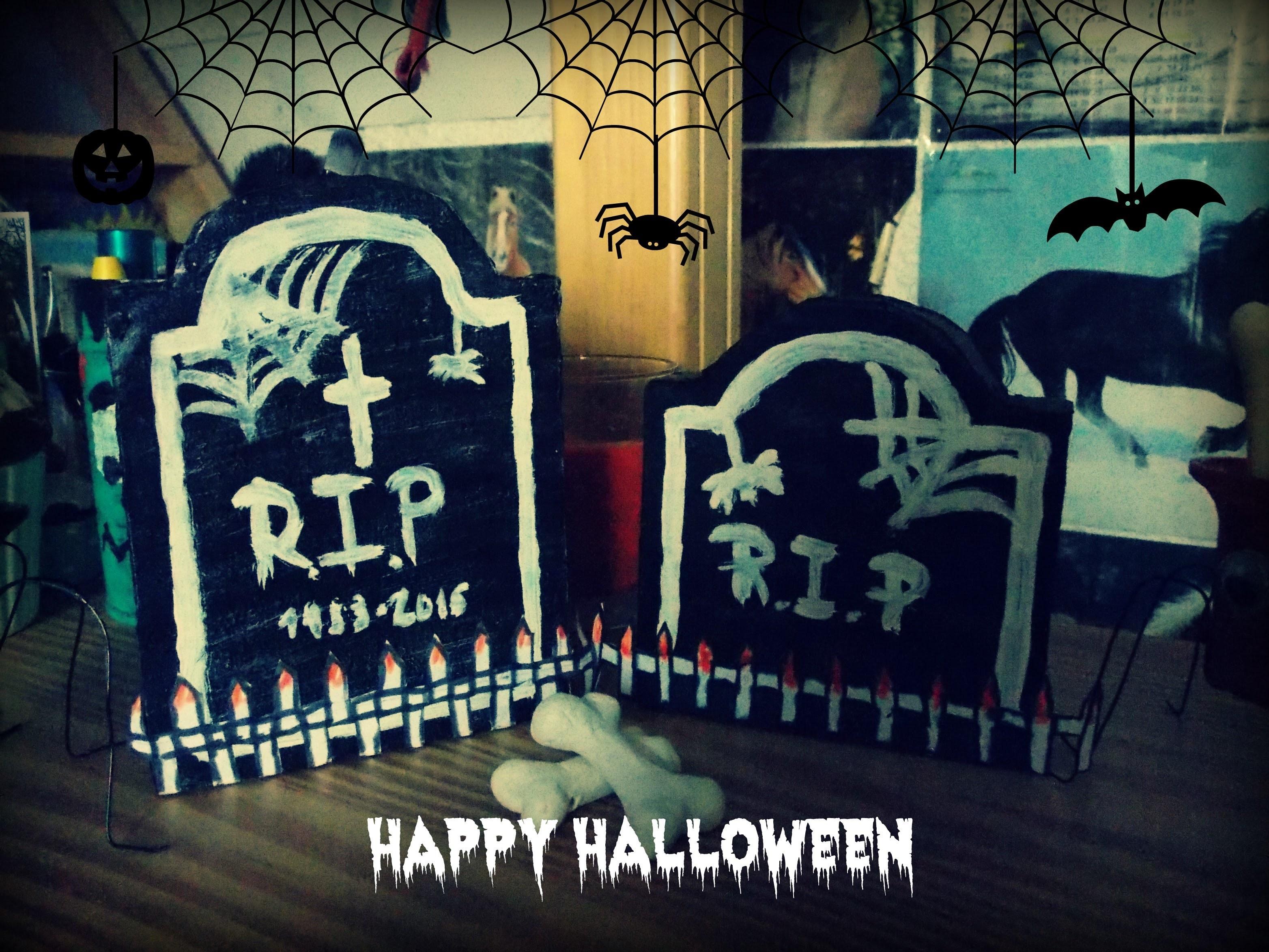 Podzimní dekorace-Halloweenský 3D náhrobek-DIY(Fall decoration-Halloween 3D tombstone)