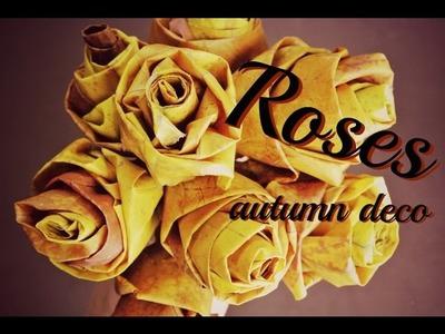 Růže z javorového listí. růže z listí. podzimní dekorace. DiY