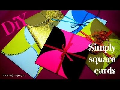 Multifunkční obálky (simply square cards, cover) DiY