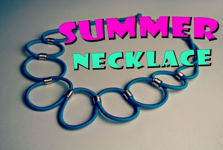 Náhrdelník z kloboukové gumy. DiY summer necklace