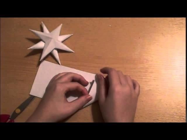 Vánoční speciál #1 - Dekorace: řetěz s 3D hvězdami DIY | Christmas decoration 3D stars