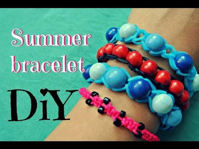 Letní veselé náramky. diy bracelet. loom bands bracelet. DiY