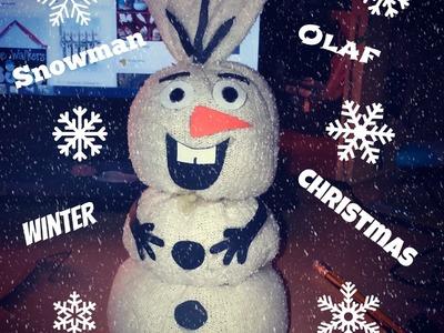 Výroba,návod na sněhuláka Olafa (DIY-snowman Olaf)