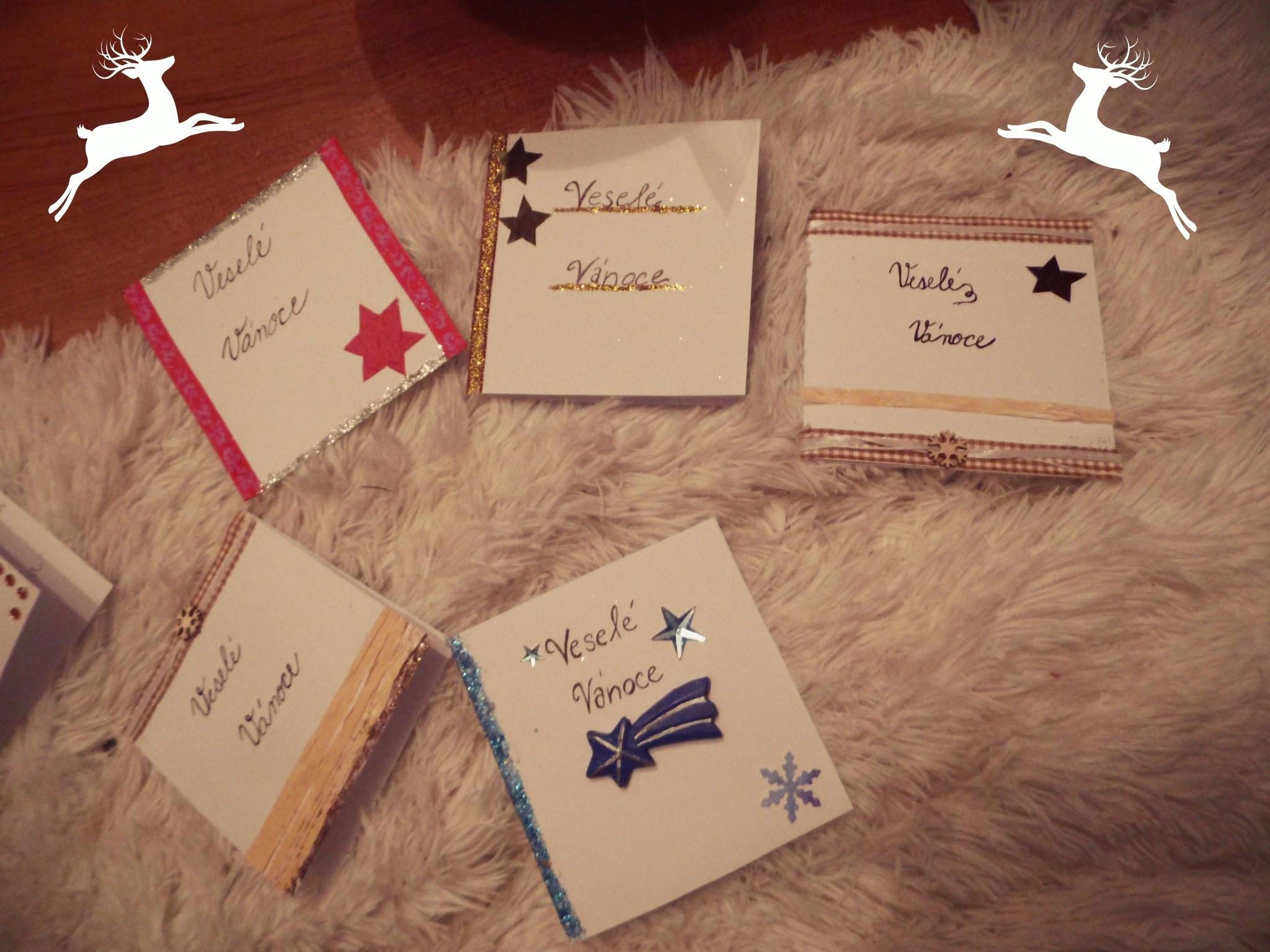 DIY - Christmas cards - Vyrob si sám Vánoční Přání