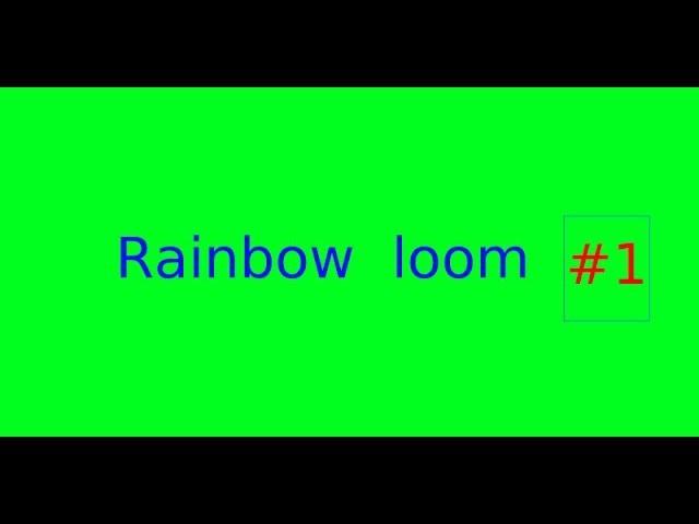 Rainbow loom - #1 šipky | Kreativní prostor