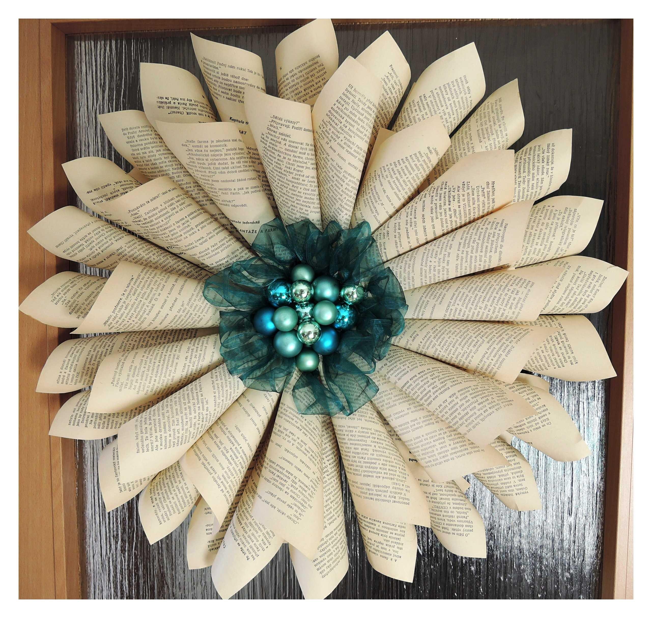 Papírová růže - věnec. Diy paper wreath. christmas decorations