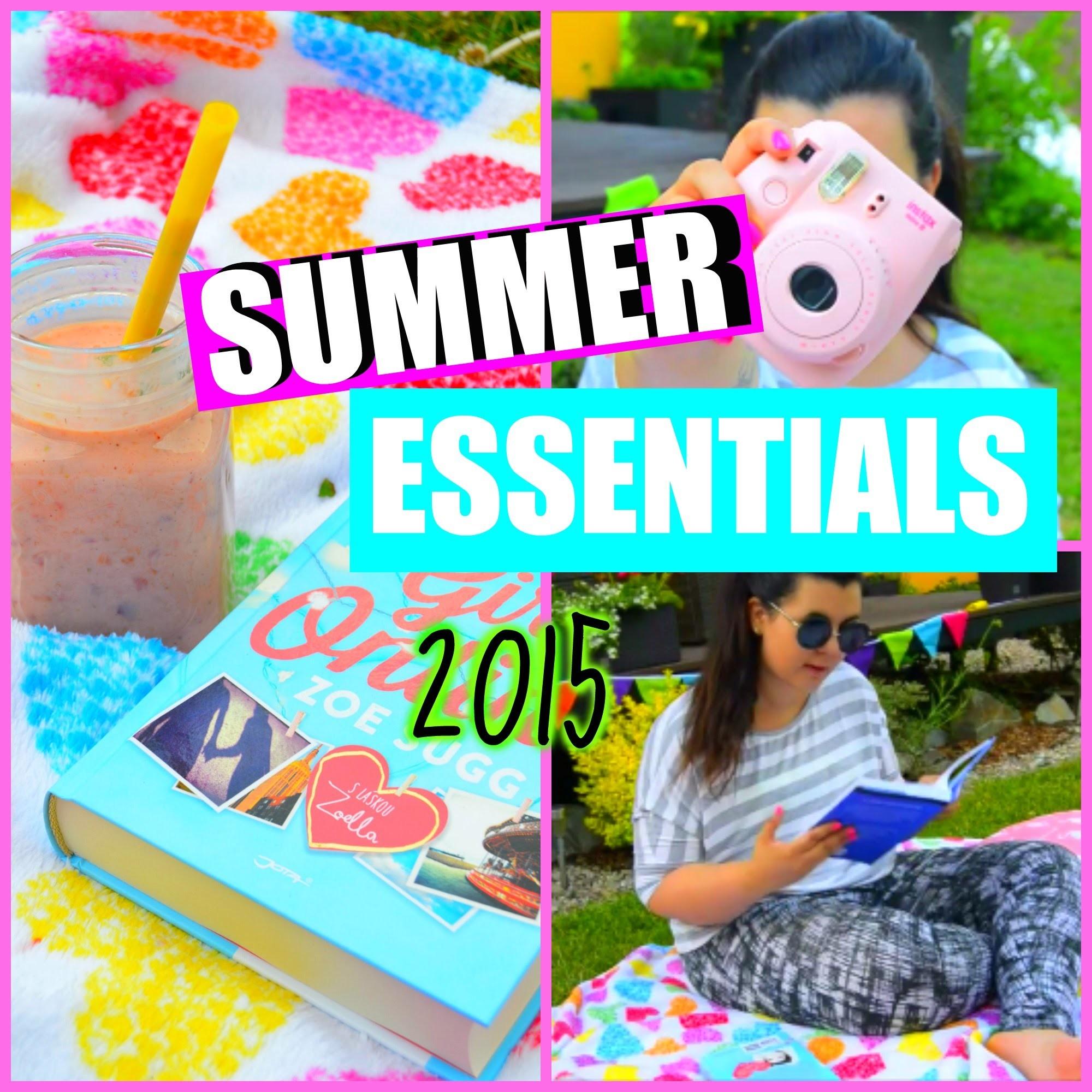 ♡ SUMMER ESSENTIALS - DIY, SNACK, PICNIC - Letní  inspirace ♡
