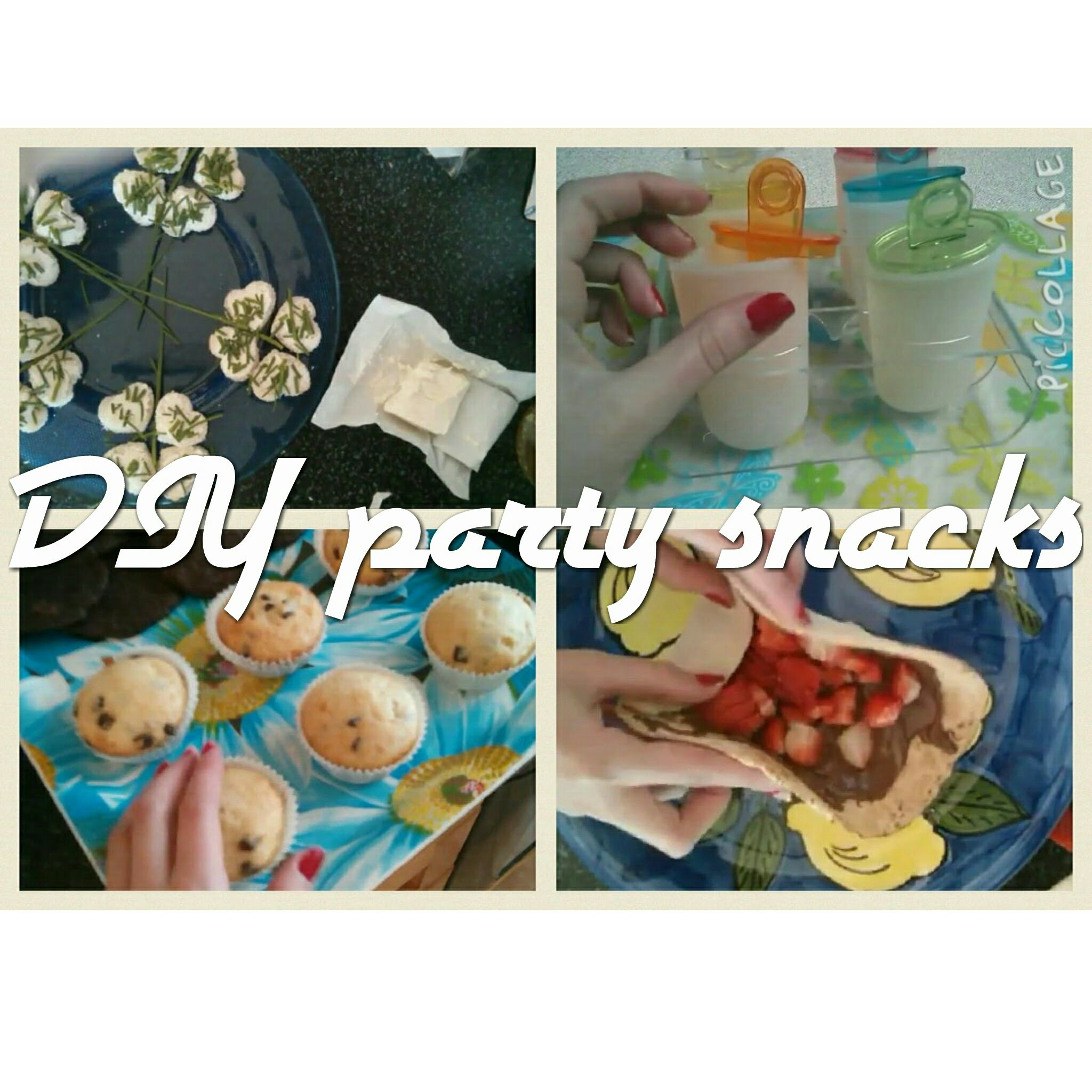 DIY Birthday Party Snacks.občersvení na oslavu. bubbletea, jahodové tortilly