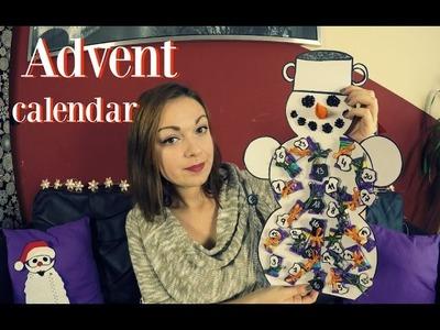 Návod na adventní kalendář - Sněhulák. diy adventní kalendář. advent calendar