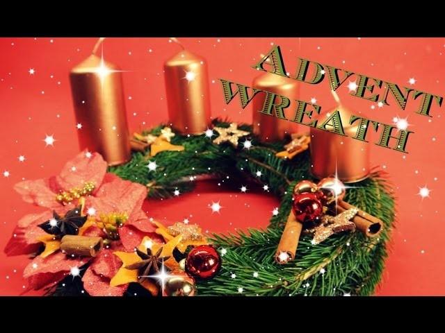 Návod na přírodní adventní věnec. natural advent wreath. diy xmas decor