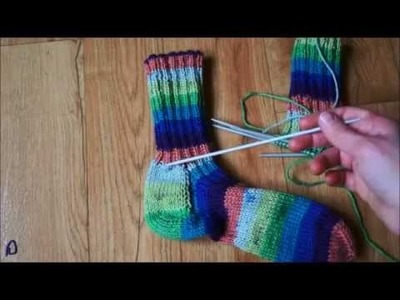 Pletení ponožek na pěti jehlicích - 2. část
