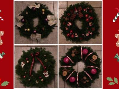 DIY vánoční věnce. Vánoce 2015