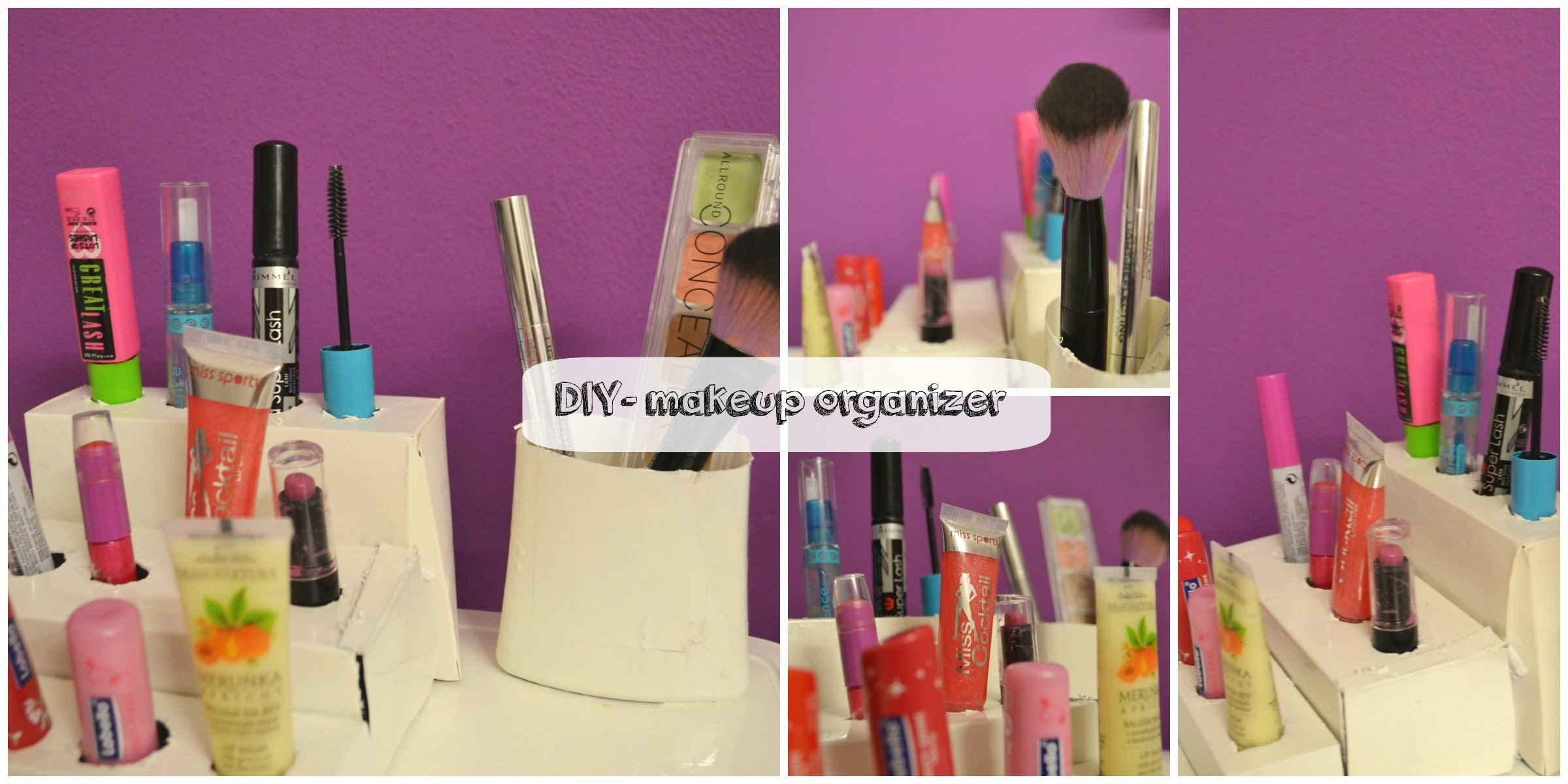 DIY- makeup organizer