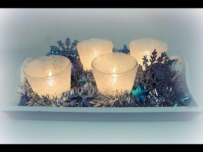 """Netradiční adventní """"věnec"""". adventní dekorace. DIY Textured Frosted Glass"""
