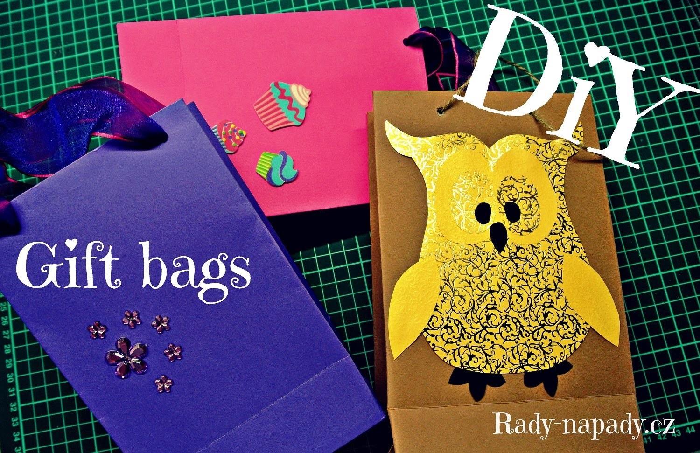 Dárková taštička se sovičkou (gift bag) DiY