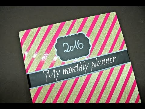 Plánovač X Diář 2016. DIY PLANNER | EASY AND INEXPENSIVE