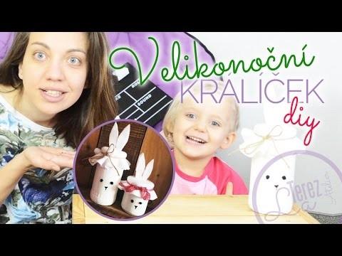 Velikonoční zajíček nebo králíček   dětské DIY #2   #laterezatelier
