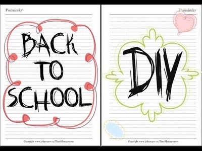 Back to school: DIY 2014. Zpátky do školy 2014